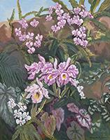 作品画像:蘭花図