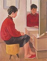 作品画像:三面鏡の前の娘