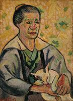 作品画像:祖母と子猫