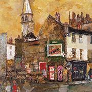 作品画像:塔のある街