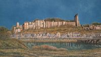 作品画像:古城のある風景