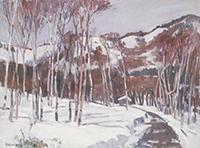 作品画像:雪の山路