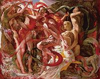 作品画像:赤い蛇