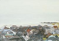 作品画像:雨の果ての町