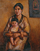 作品画像:母と子