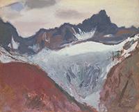 作品画像:アルプスの山(スイス)