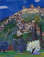 作品画像:古城の丘