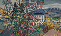 作品画像:海棠の花咲く