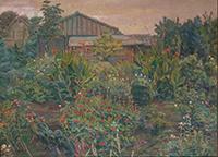 作品画像:百日草の庭