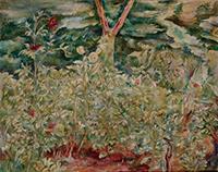 作品画像:園の花