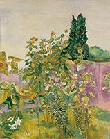 作品画像:向日葵と百合