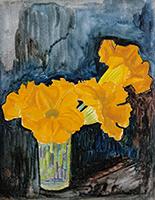 作品画像:かぼちゃの花