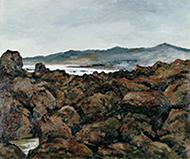作品画像:煙雨の岬