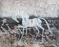 作品画像:霜の息を吐く馬