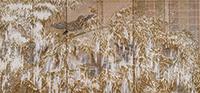 作品画像:雪後争鳥