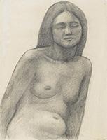作品画像:裸婦半身像
