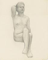 作品画像:裸婦習作