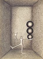 作品画像:[三つの球をもつ男]
