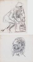 作品画像:袋を首にかけた男[裏:男の顔]