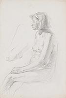 作品画像:裸婦横向座像