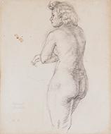 作品画像:裸婦後向立像