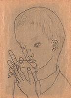 作品画像:水を飲む子供