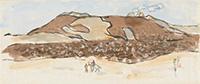 作品画像:阿蘇山麓をゆく