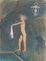 作品画像:岩風呂(上州の山の湯にて)