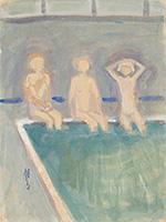 作品画像:浴場の女の児(山の湯)