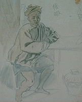作品画像:中国街頭商人