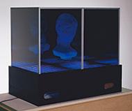 作品画像:無限空間におけるオブジェとイメージの相関関係 または少女と円筒体