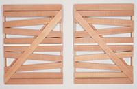 作品画像:「反対称」対角線 No.1, No.2