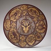 作品画像:布目象嵌鉄皿