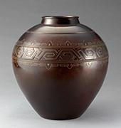 作品画像:回文銀錯花瓶