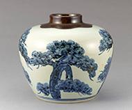 作品画像:花瓶染付 松