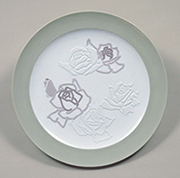 作品画像:彩挺バラ飾皿