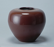 作品画像:天目朱釉丸壺