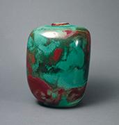 作品画像:彩色釉花瓶