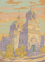 作品画像:ニコライ堂の晩秋
