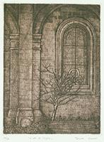 作品画像:教会の横