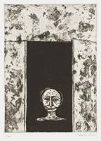 作品画像:7. 深い地底に蹲りつづけたような黒い皮膚をもつた、背の低い、無表情な老人が、[『九つの夢から』より]