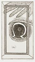 作品画像:12. 拡がつた闇の先端の顎のあたり、口ともしれぬ口のあたりを[『九つの夢から』より]