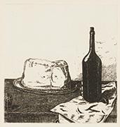 作品画像:帽子とビン