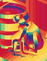 作品画像:Finger Box[『Rainbow Landscape』より]