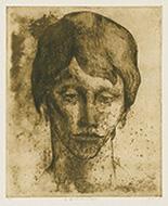 作品画像:憂鬱(古典主義による顔の連作)