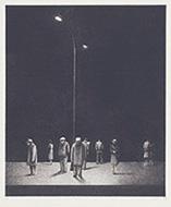 作品画像:日常生活・駅にて・夜