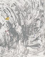 作品画像:夢の記憶(ベルリン個展のポスター)