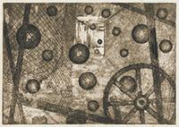 作品画像:[通路、網と浮遊する球]