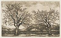 作品画像:二本の木