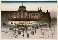 作品画像:東京駅夕景